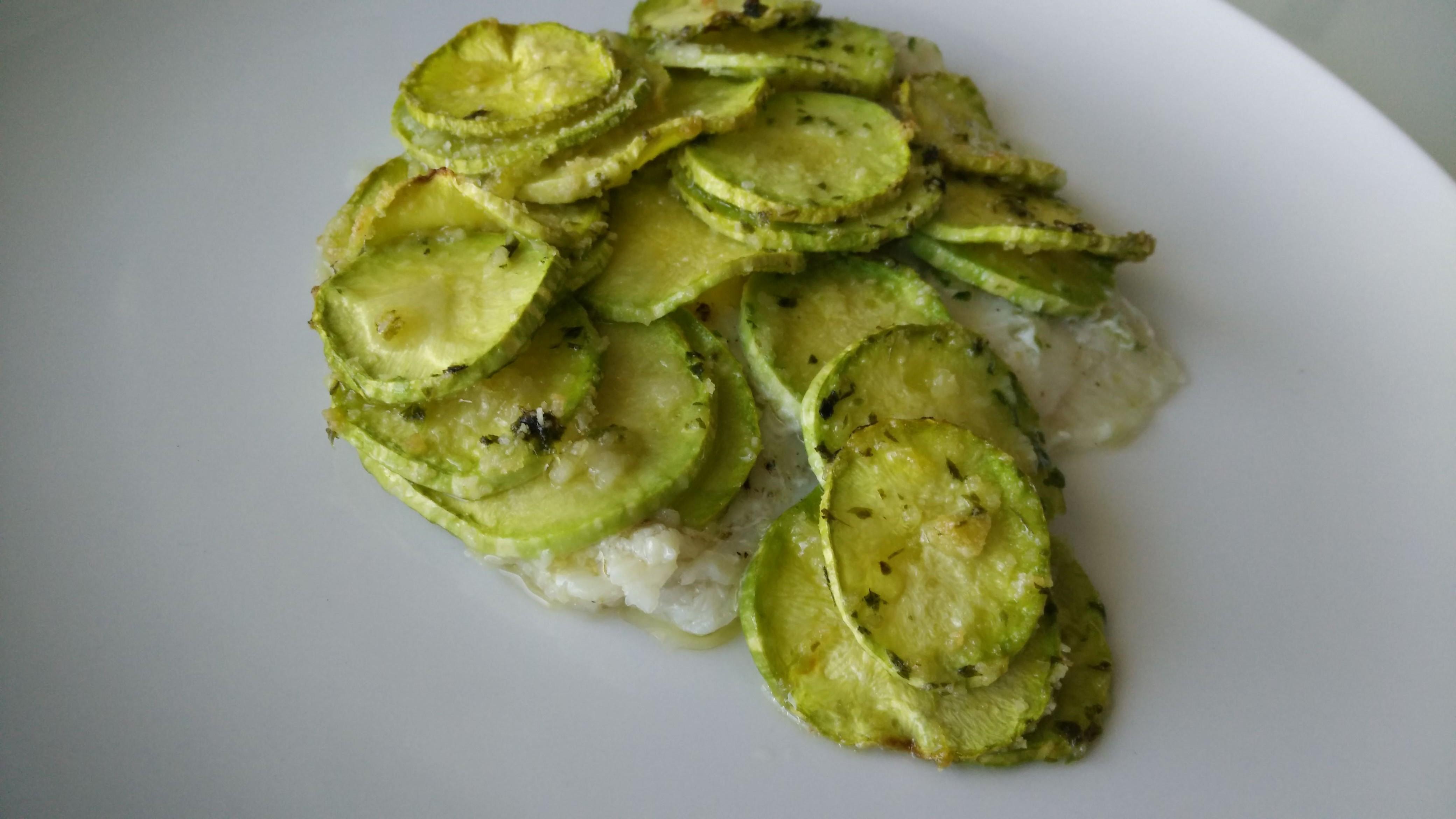 Filetto di platessa in crosta di zucchine