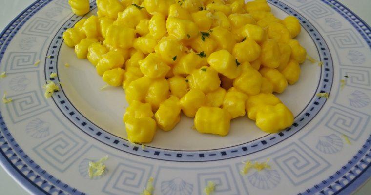 Gnocchi di patate al sugo di limone